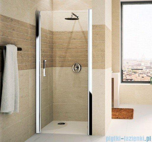 Novellini Drzwi do wnęki uchylne GIADA 1B 75 cm prawe szkło przejrzyste profil srebrny GIADN1B75D-1B
