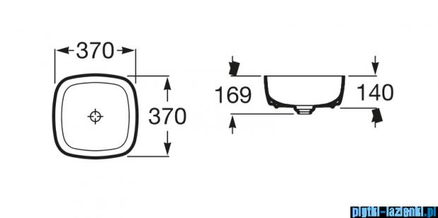Roca Inspira Soft umywalka nablatowa 37cm A327502000