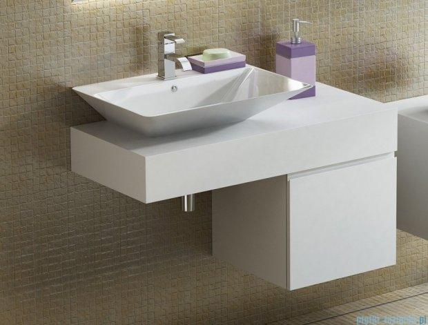 Antado Combi szafka lewa z blatem lewym i umywalką Libra biały/ciemne drewno ALT-141/45-L-WS/dp+ALT-B/3-1000x450x150-WS+UCS-TC-66