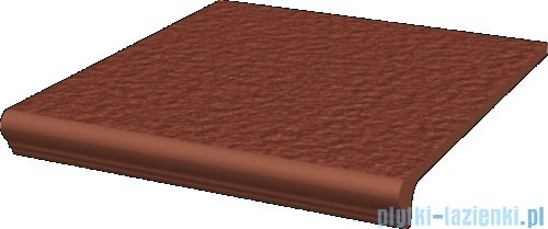 Paradyż Natural rosa duro klinkier stopnica z kapinosem prosta 30x33