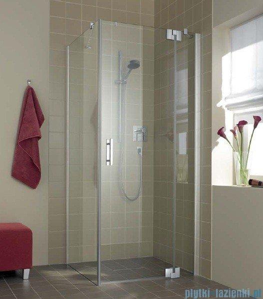 Kermi Filia Xp Drzwi wahadłowe z polem stałym, prawe, szkło przezroczyste KermiClean, profile srebrne 110x200cm FX1WR11020VPK