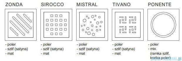 Wiper Premium Mistral Wpust Punktowy 10x10 cm Szlif WP100P_MistralSzlif