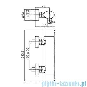 Paffoni Bateria natryskowa termostatyczna Berry chrom BRQ168CR