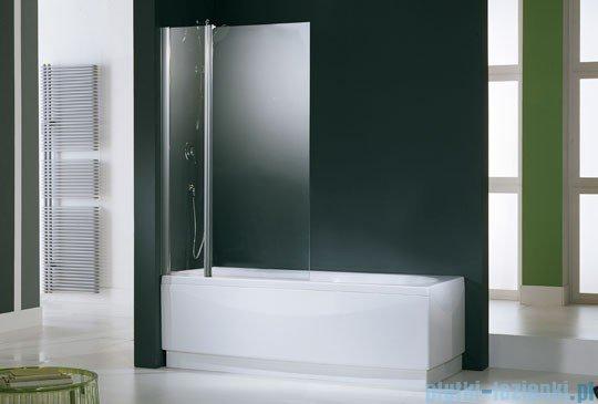 Novellini Parawan Aurora3 98x150cm profil biały szkło przezroczyste AURORAN3-1A