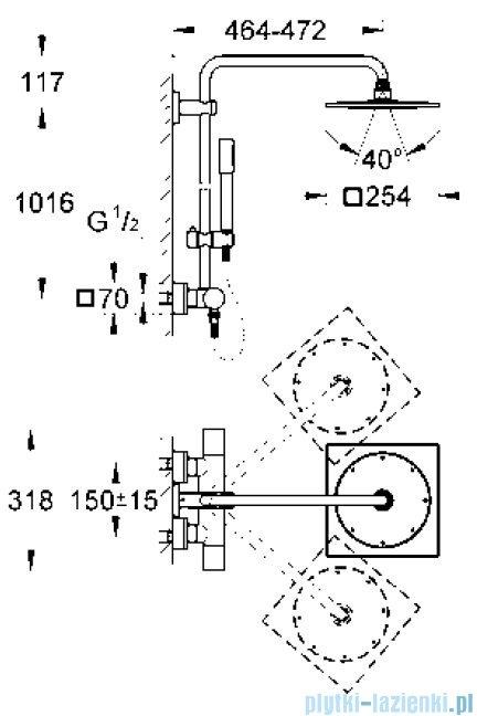 "Grohe Rainshower F-series10"" system natryskowy,  27469 000"