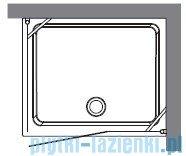 Kerasan Kabina prostokątna lewa, szkło piaskowane profile chrom 80x96 Retro 9142S0
