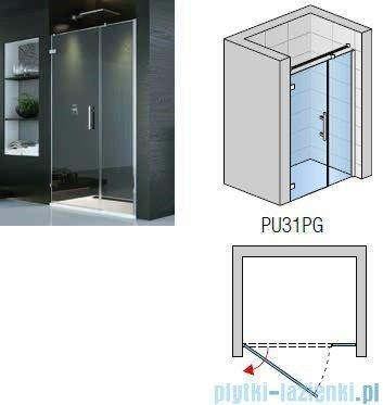 SanSwiss PUR PU31P drzwi lewe 120x200cm efekt lustrzany PU31PG1201053