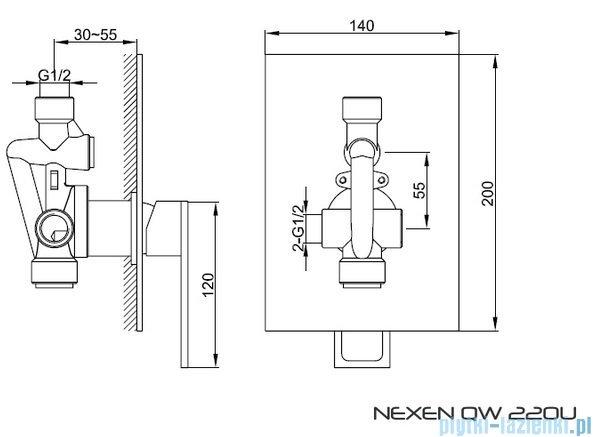 Kohlman Nexen Podtynkowa bateria prysznicowa QW220U