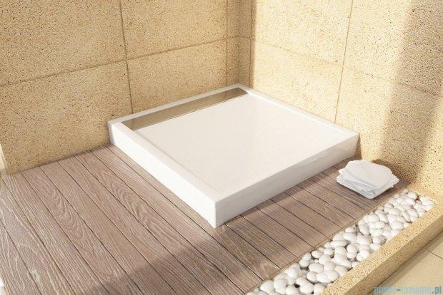 SanSwiss Ila WIQ Brodzik kwadratowy 90x90cm kolor biały/czarny WIQ0900604