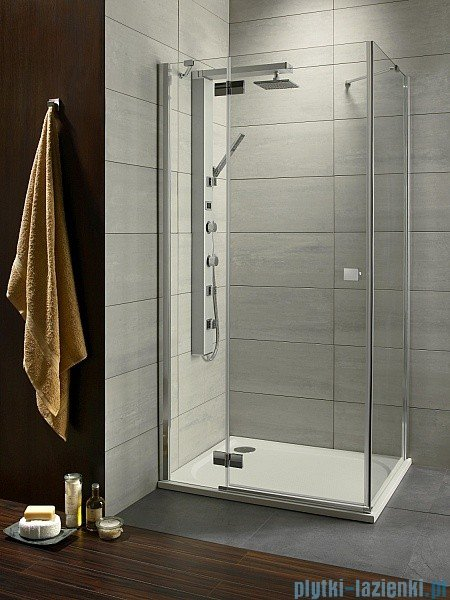 Radaway Almatea Kdj Gold kabina prysznicowa 80x90 lewa szkło brązowe 32146-09-08NL