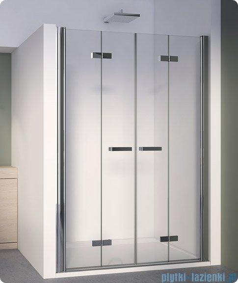 SanSwiss Swing Line F SLF2 Drzwi składane 140cm profil biały SLF214000407