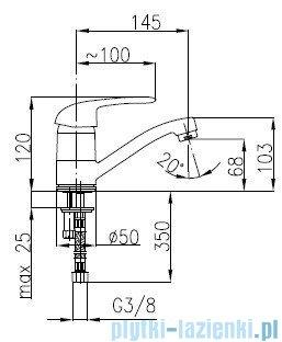 KFA ALBIT Bateria umywalkowa stojąca 4602-915-00