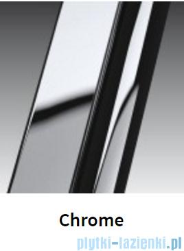 Novellini Drzwi do wnęki z elementem stałym GIADA G+F 114 cm prawe szkło przejrzyste profil chrom GIADNGF114D-1K