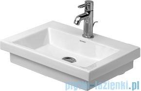 Duravit 2nd floor umywalka mała bez przelewu bez otworu na baterię 500x400 mm 079050 00 70