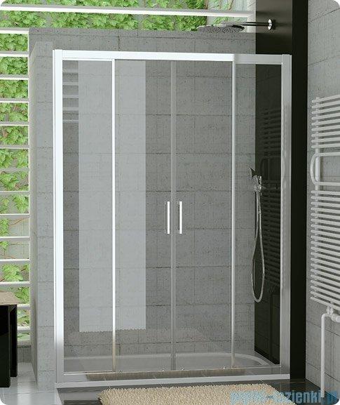 SanSwiss Top-Line TOPS4 Drzwi prysznicowe 4-częściowe 140cm profil srebrny TOPS414000107