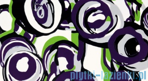 Dekor ścienny Tubądzin Colour Hoop Violet 32,7x59,3
