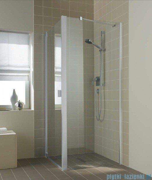 Kermi Raya Ściana boczna, szkło przezroczyste z KermiClean, profile srebrne 90x200 RATWD09020VPK