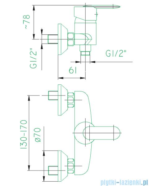 KFA Cyrkon bateria natryskowa, kolor decorum 586-030-00
