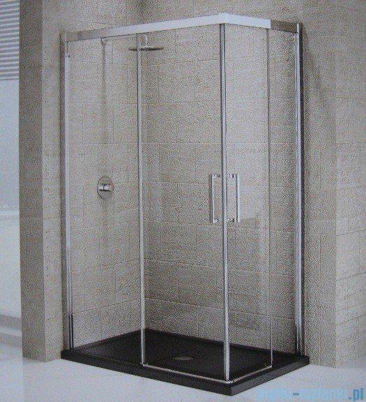 Novellini Elysium Kuadra A Ścianka prysznicowa 75cm lewa szkło przejrzyste profil chrom KUADA75LS-1K