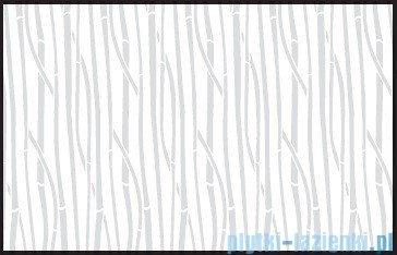 Kermi Cada Kabina ćwierćkolista z drzwiami wahadłowymi, szkło Serigrafie CadaClean 90x90cm CAP4809018VCK