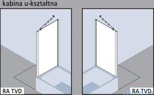 Kermi Raya Ściana boczna skrócona, szkło przezroczyste, profile srebrne 70x175 RATVD07017VAK
