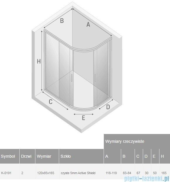 New Trendy Varia kabina asymetryczna 120x85x165cm przejrzyste K-0191