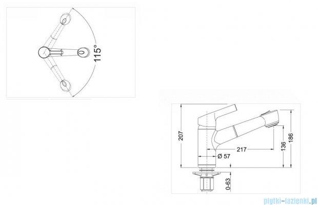 Blanco Elipso-s II  bateria wysokociśnieniowa kolor: biały  514854