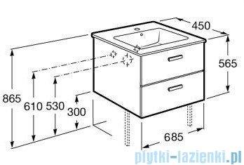 Roca Victoria Basic Zestaw łazienkowy Unik szafka z umywalką 70cm biały połysk A855853806