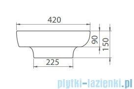 Cerastyle Lal umywalka 80x42cm wpuszczana / nablatowa 072400-u