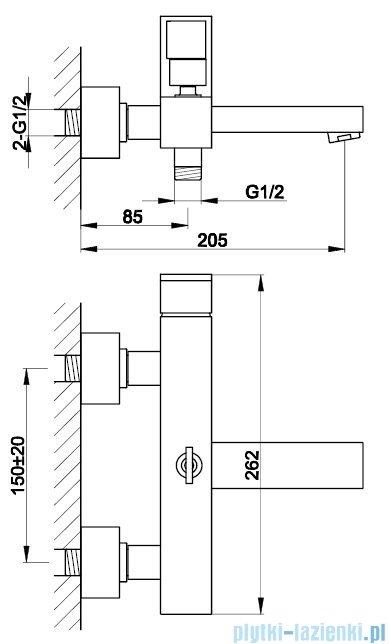 Kohlman Nexen bateria wannowa chrom QW110U