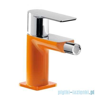 Tres Loft Colors Bateria bidetowa z korkiem automatycznym kolor pomarańczowy 200.120.01.NA.D