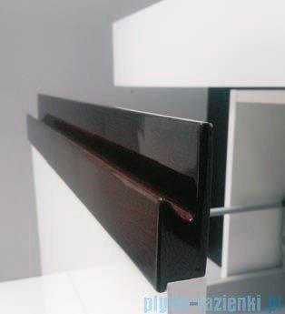 Antado Combi szafka z blatem i umywalką Mia biały/ciemne drewno ALT-140/45GT-WS/dp+ALT-B/1C-1000x450x150-WS+UCS-TC-60