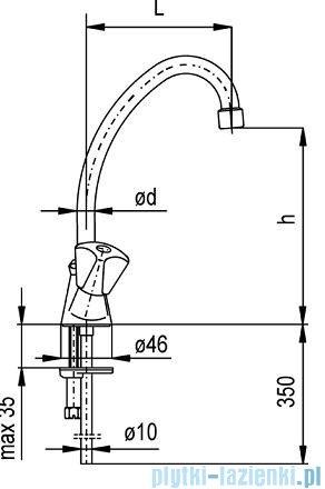 KFA STANDARD Bateria umywalkowa stojąca dł. 135 mm 302-395-00