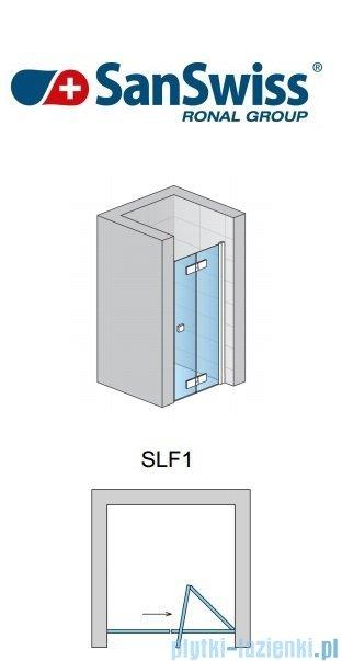 SanSwiss Swing Line F SLF1 Drzwi 2-częściowe 75cm profil srebrny Prawe SLF1D07500107