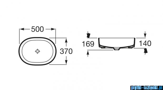 Roca Inspira Round umywalka nablatowa 50x37cm A327520000