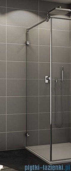Sanswiss Melia MET3 Ścianka lewa z uchwytami i profilem 30-90/do 200cm pas satynowy MET3AGSM11051