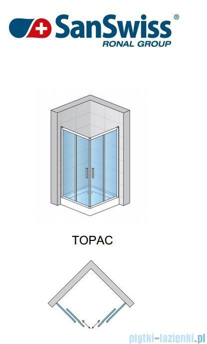 SanSwiss Top-Line TOPAC Wejście narożne 120cm profil srebrny Lewe TOPG12000107