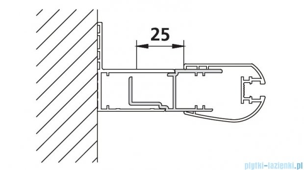 Kermi Atea Przedłużka poszerzająca biała 185cm ZDSVSVPAT1852K