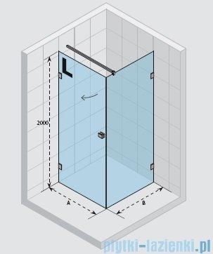 Riho Scandic Lift M201 kabina prysznicowa 90x80x200cm prawa GX0203102
