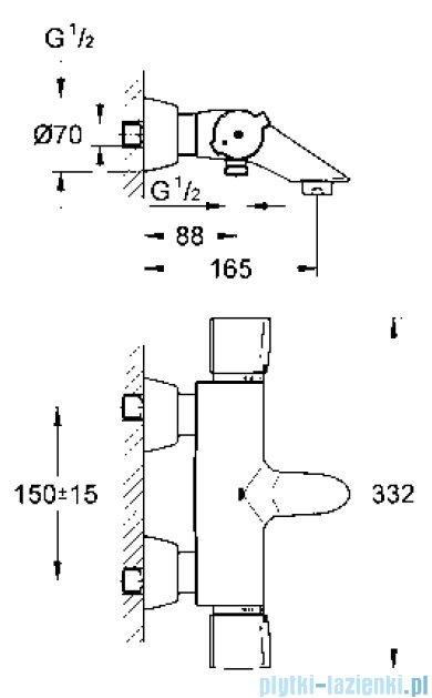 Grohe Grohtherm 2000 Special bateria wannowa z termostatem DN 15  34202000