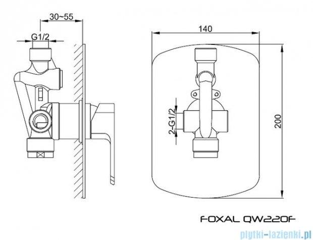 Kohlman Foxal podtynkowa bateria prysznicowa QW220F