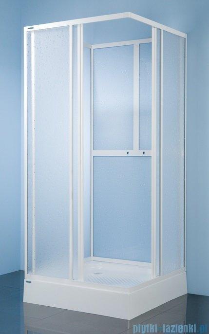 Sanplast kabina czterościenna kwadratowa KC/Dr-c-80 szkło: Sitodruk W4 600-013-1220-01-410