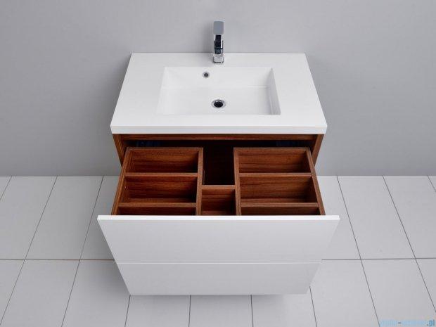 Antado Grande szafka z umywalką 79x50cm orzech Dijon+biały GR-140/80-3734/WS+UMMR-800C