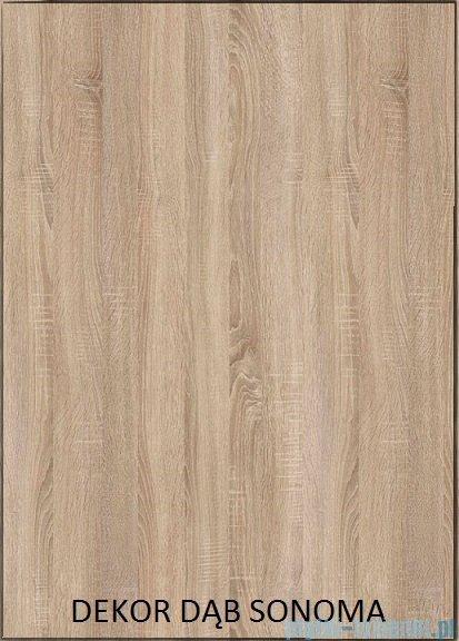 Antado Grande słupek wysoki prawy 40x32x150cm dąb Sonoma+biały GR-161R-3025/WS