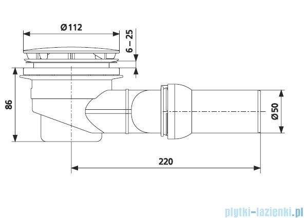 Sanit syfon brodzikowy śr. 90 mm 34045