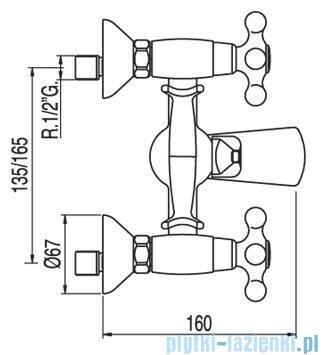 Tres Clasic-Tres Bateria wannowa kolor stary mosiądz 5.32.176.01