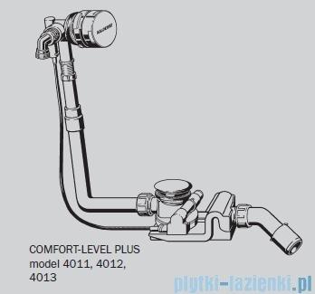 Kaldewei Comfort-Level Plus model 4012 z przedłużeniem i napełnianiem chrom 687770620000
