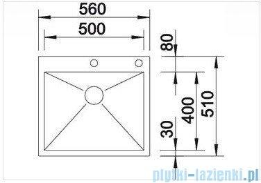 Blanco Zerox 500-IF/A zlewozmywak  stal szlachetna polerowana  z k. aut. 515640