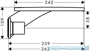 Hansgrohe Axor Massaud 3-otworowa bateria ścienna umywalkowa z długą wylewką 18115000