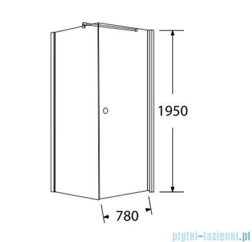 Sea Horse Fresh Line kabina kwadratowa z powłoką drzwi pojedyncze lewa 80x80 cm   BK259/1TL+